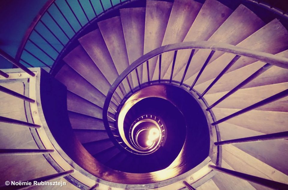 Picture of the staircase of Soho House Hotel in Istanbul.